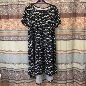 Black and White Floral Carly Dress